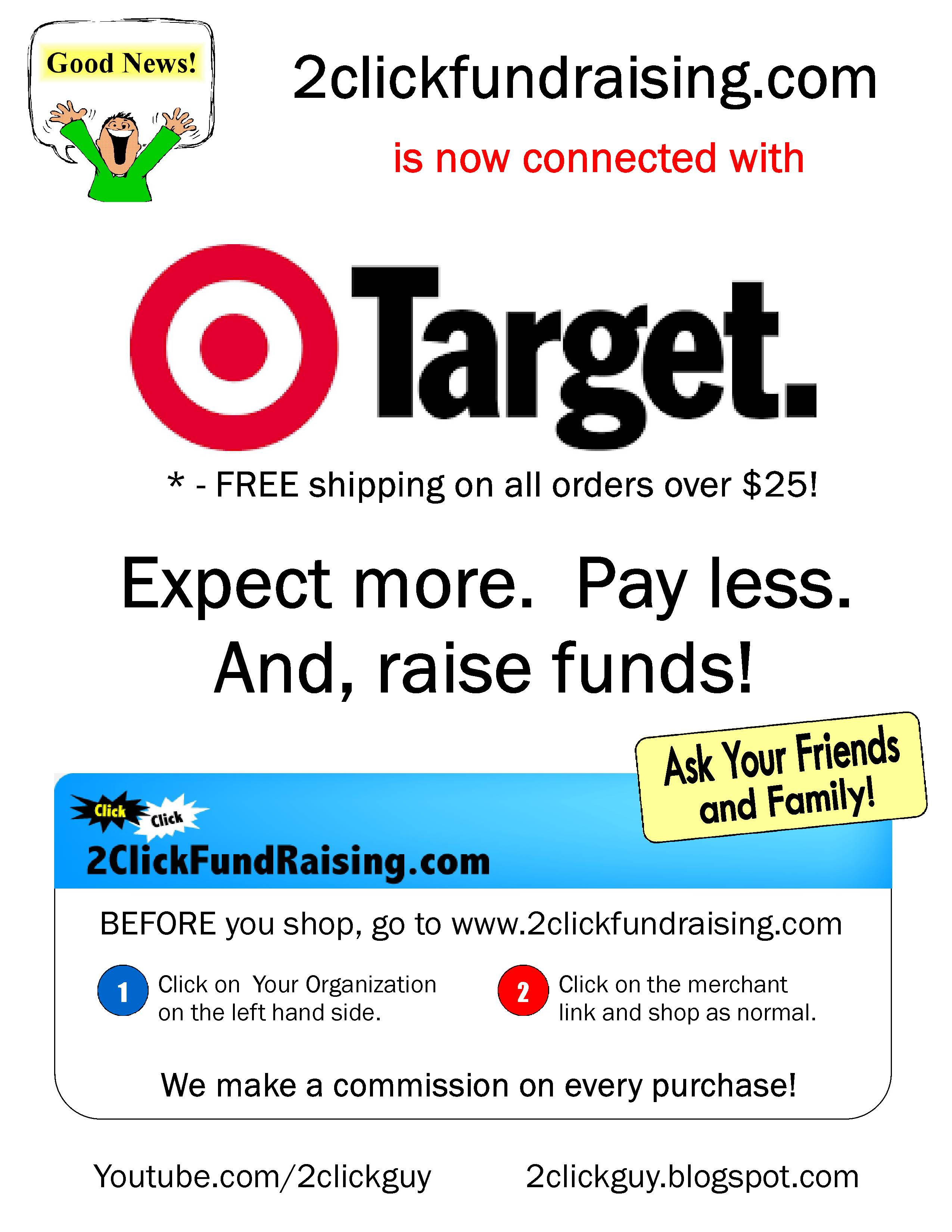 2ClickFundraising now supports Target!