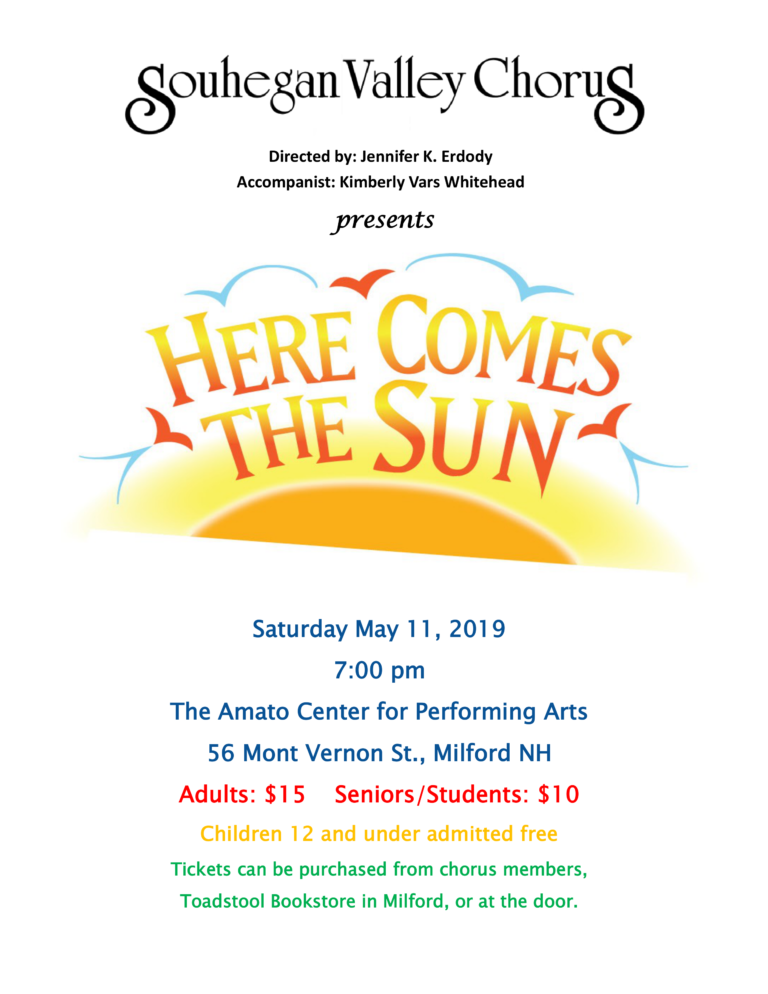 Our Spring 2019 Concert is coming up!